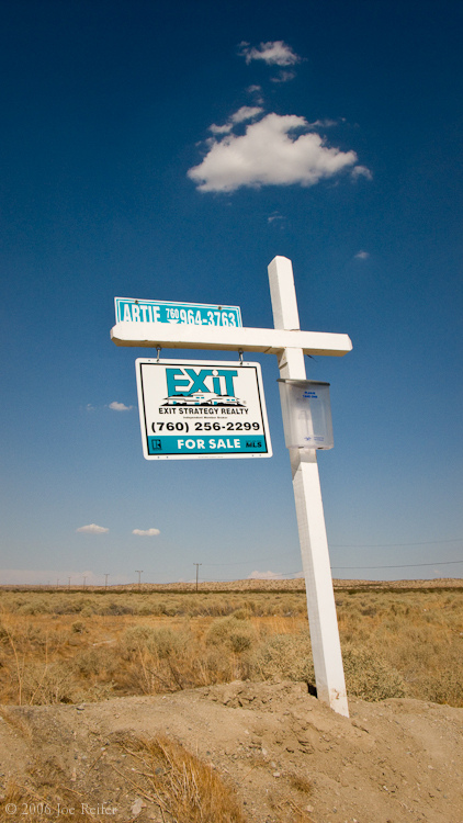 Exit Strategy Realty, Mojave Desert -- by Joe Reifer