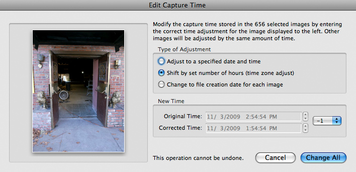 Lightroom Metadata Camera Timestamp Fix 3