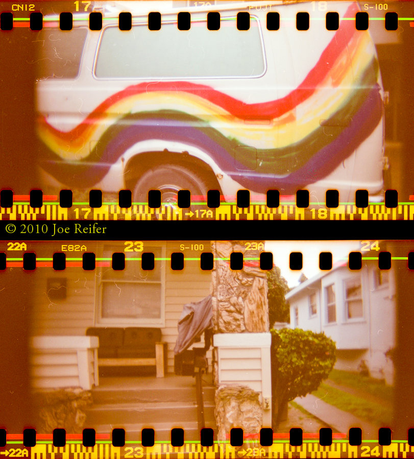 Riding the rainbow of perfection in a world of stone facing (diptych) -- by Joe Reifer