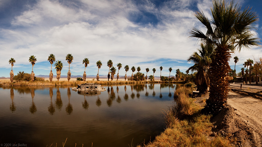 Lake Tuendae at Zzyzx -- by Joe Reifer