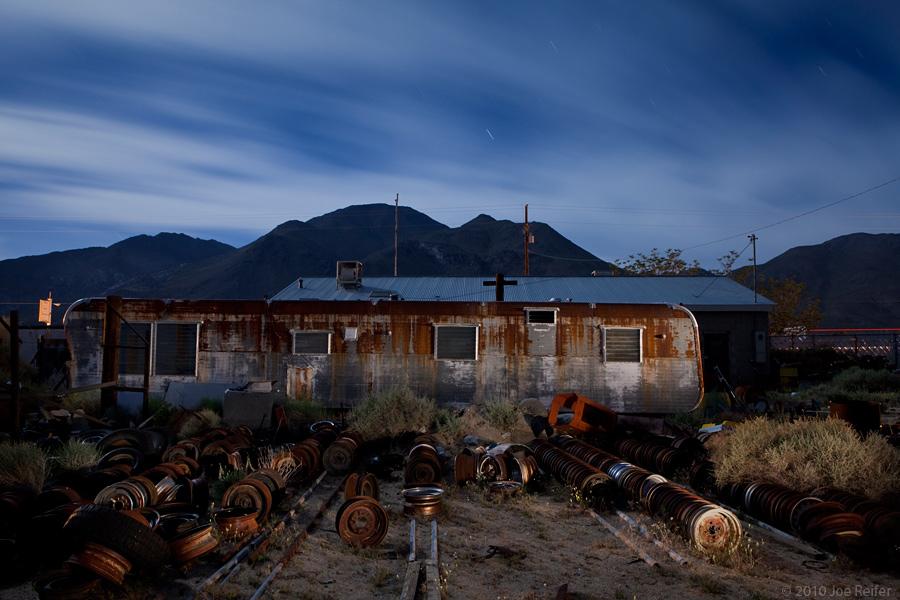 Trailer and rims (Pearsonville) -- by Joe Reifer