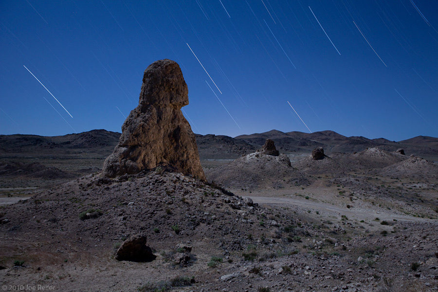 Look skyward (Trona Pinnacles) -- by Joe Reifer