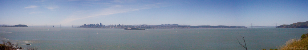 Angel Island Pinhole Panorama -- by Joe Reifer