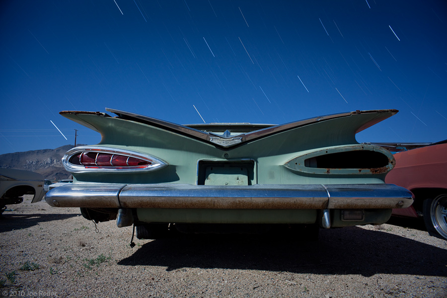 Staring at the back of a 1959 Chevy for 18 minutes -- by Joe Reifer