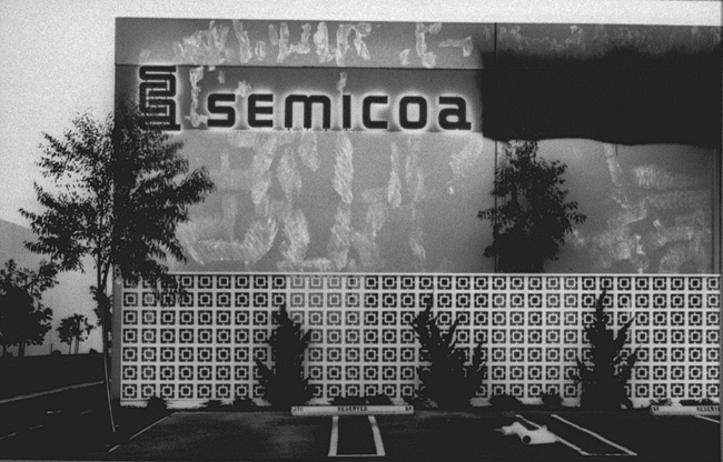 Lewis Baltz -- North Wall, Semicoa, 333 McCormick, Costa Mesa 1974