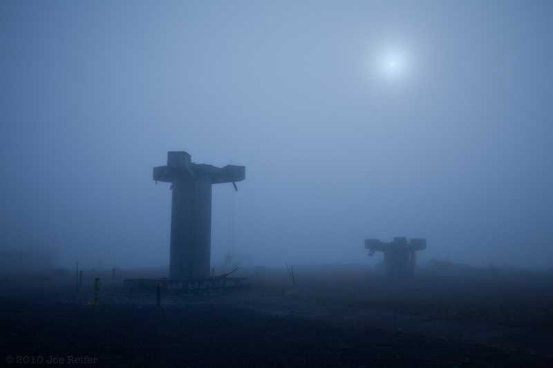 Wolf Ridge in the fog -- by Joe Reifer