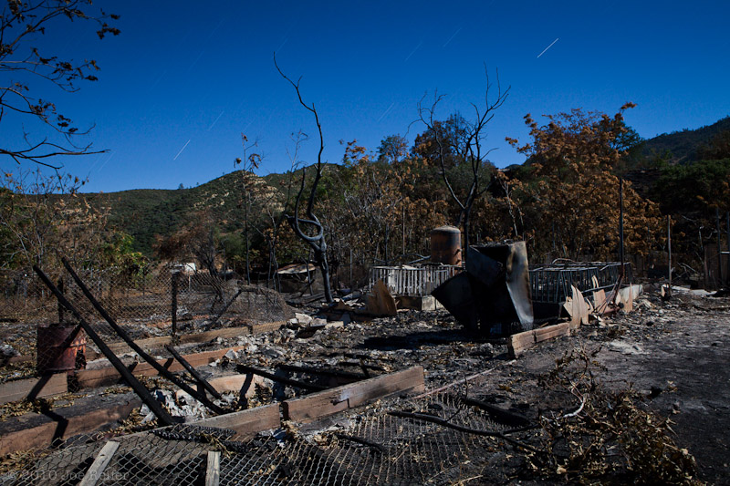 Burned pig farm at New Idria ghost town -- by Joe Reifer