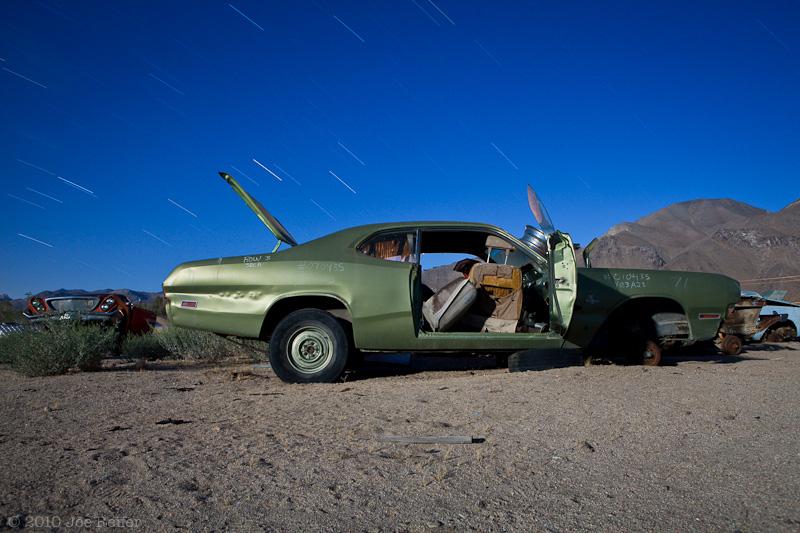 Green 1971 Dodge Demon -- by Joe Reifer