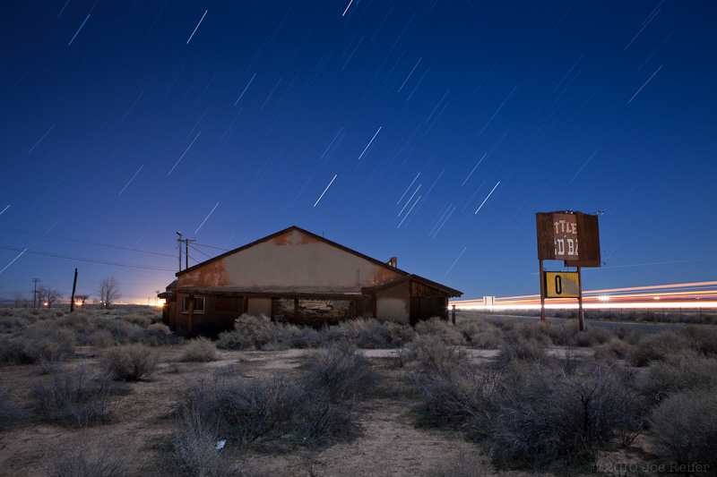 The Little Red Barn (abandoned Mojave Desert cafe) -- by Joe Reifer
