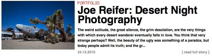 Joe Reifer Desert Night Photography Portfolio on La Lettre de la Photographie