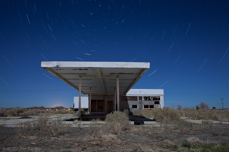 Abandoned gas station, Mojave Desert -- by Joe Reifer