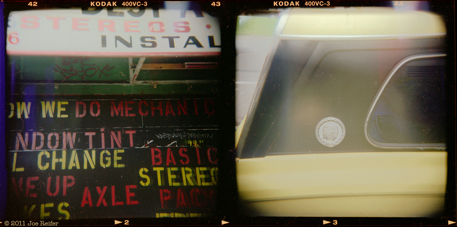 Holga diptych: My Jeep needs some help -- by Joe Reifer