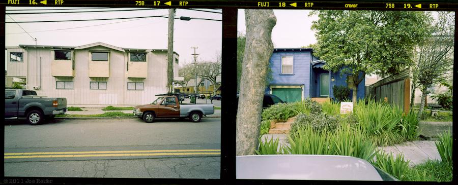 Berkeley diptych: Cars, trucks, and your future -- by Joe Reifer
