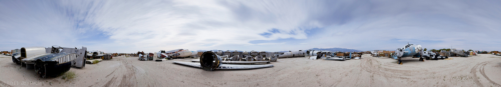 Supermoon Secret Boneyard 360 Night Panorama -- by Joe Reifer