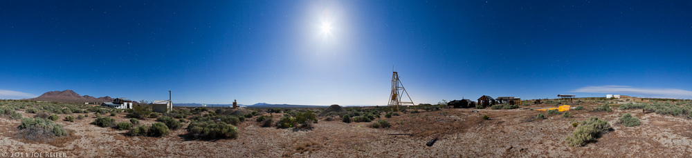 Atolia tungsten mine night panorama -- by Joe Reifer