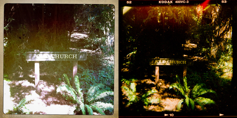 Holga vs Hipstamatic: Old Church -- by Joe Reifer