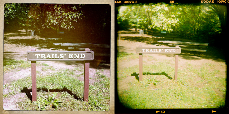 Holga vs Hipstamatic: Trail's End -- by Joe Reifer