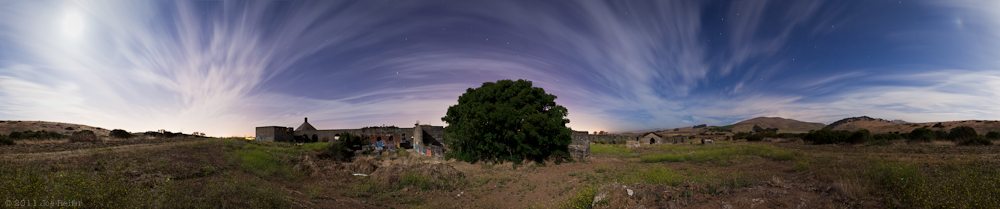 Abandoned cement plant night panorama -- by Joe Reifer