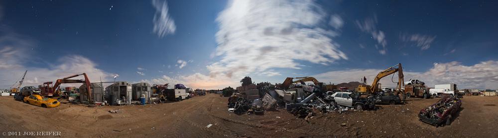 Paul's Junkyard 360 degree night panorama -- by Joe Reifer