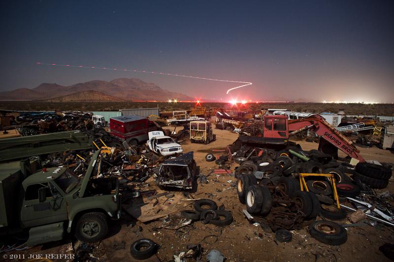 Mojave Desert car accident airlift -- by Joe Reifer