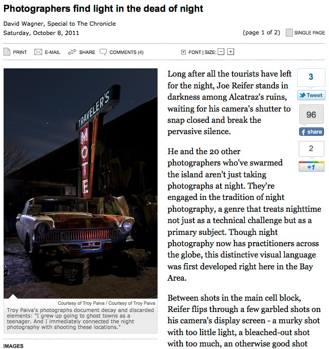 San Francisco Chronicle: Photographers find light in the dead of night