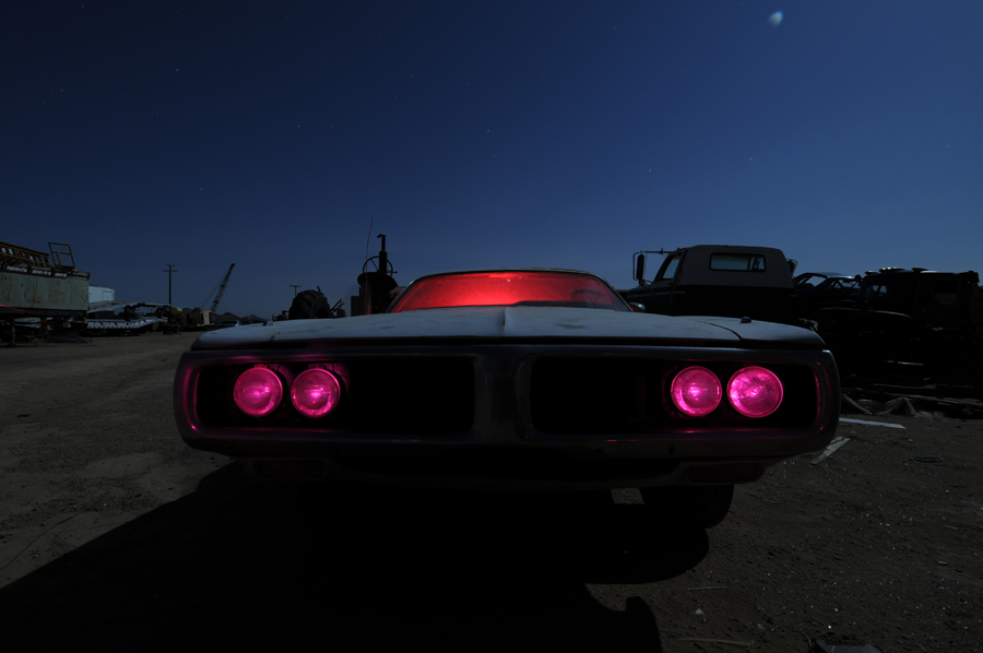 Headlights and interior - Dodge Charger light painting - by Michael Bertrand