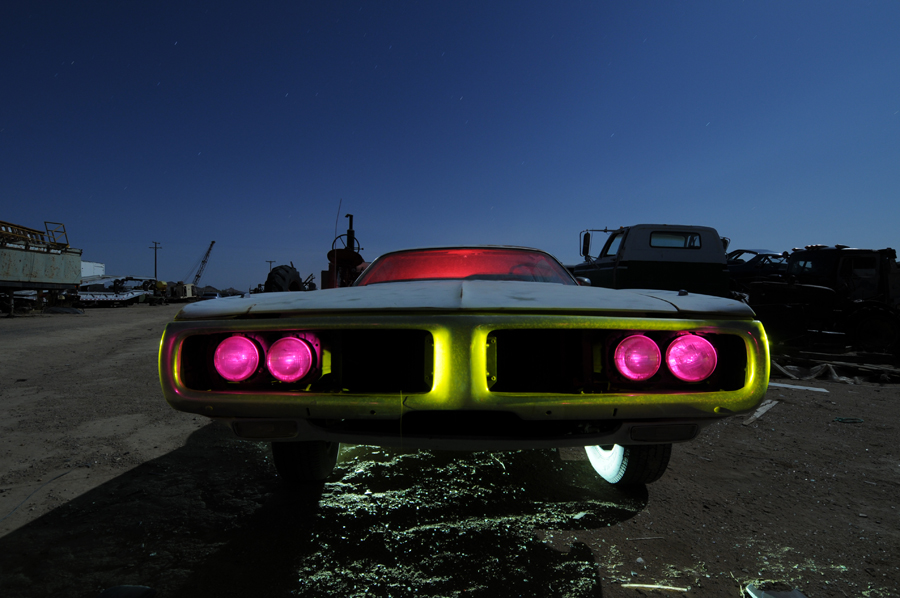 Almost there - Dodge Charger light painting - by Michael Bertrand