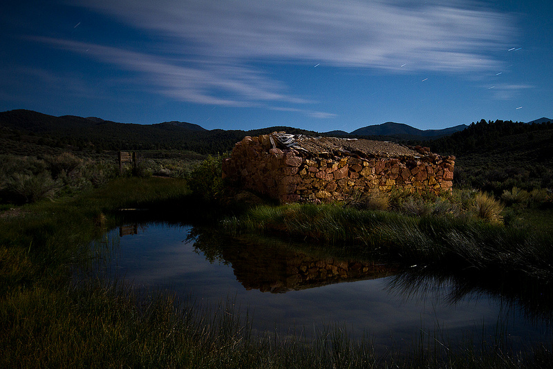Stone cottage by a desert spring, Grantsville ghost town -- by David Dasinger