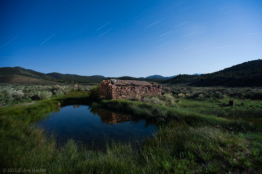 Grantsville Ghost Town Stone House Ruins with Pond -- by Joe Reifer