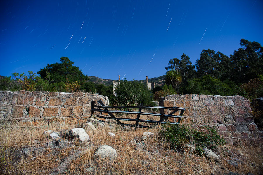 Stone ruins of a 19th century resort -- by Joe Reifer