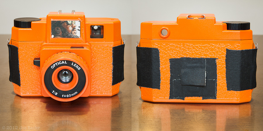 Thelonius Monk Edition HolgaGlo Glow in the Dark Aura Orange Holga -- by Joe Reifer
