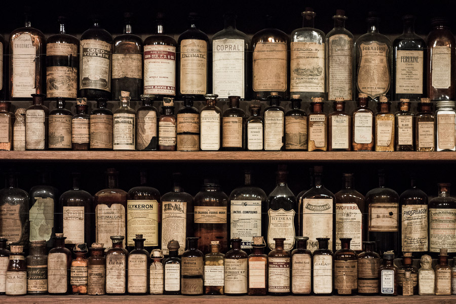 Medicine from the 30's and 40's at Ruddy's General Store in Palm Springs