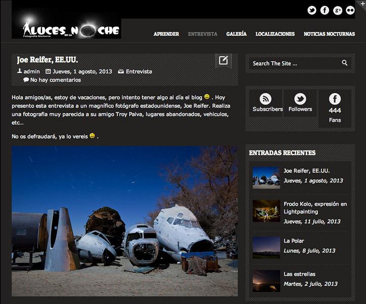 Luces de la Noche interview with Joe Reifer