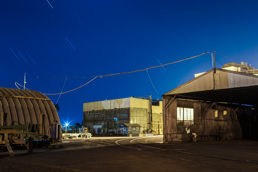 Mare Island night geometry with Orion's Belt