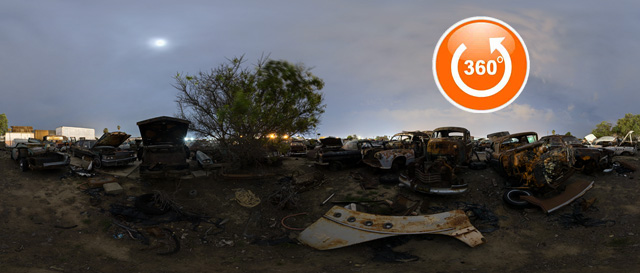 Valley Junkyard West Yard 360 Night Tour