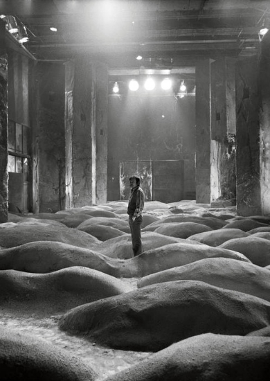 Tarkovsky on the set of Stalker