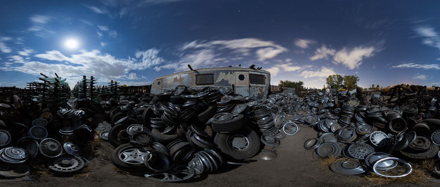 Trailer, Hubcaps, Windshields, etc.  - by Joe Reifer