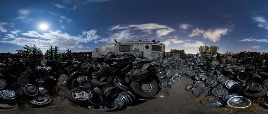 Trailer, Hubcaps, Windshields, etc. - by Joe Reifer