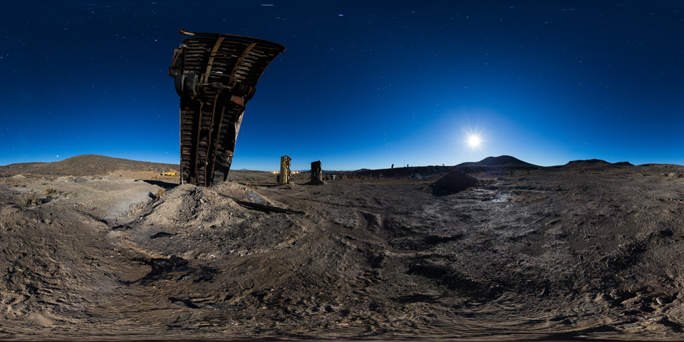 Nevada Car Forest - Take a night tour of this amazing art installation in Goldfield, Nevada, featuring a field of cars, trucks, and buses stuck nose first into the ground.