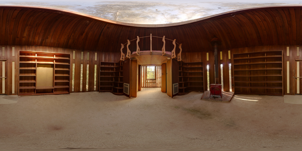 Library in the Woods 360 Panorama