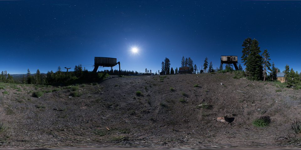 Iron Mountain - Tour an abandoned Lake Tahoe ski resort under a full moon