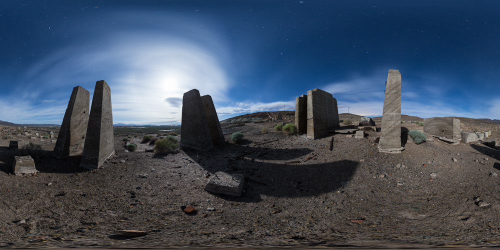 Thompson Smelter ruins - Stare up at the full moon at the Stonehenge of Western Nevada.