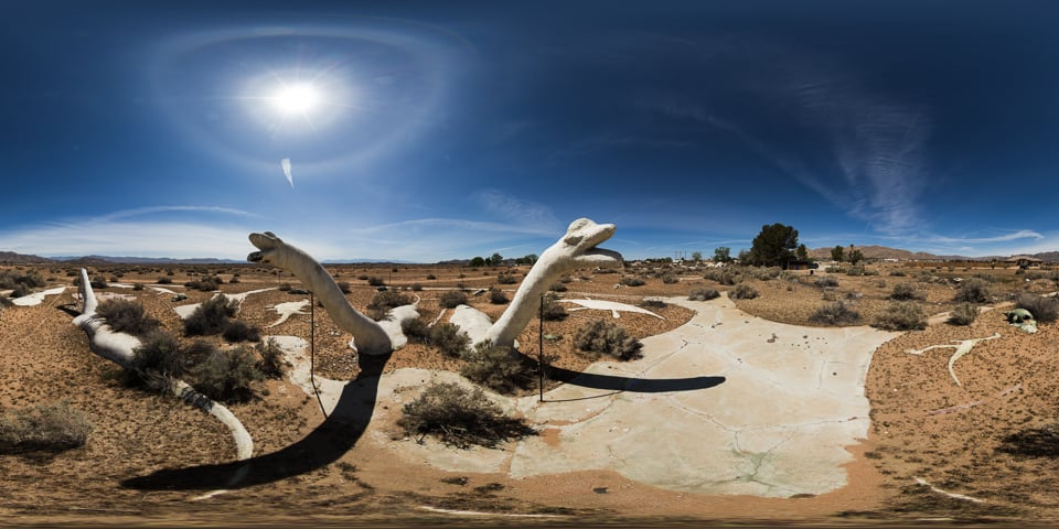 Desert Dinosaurs - The crumbling remains of some 70's dinosaur sculptures.