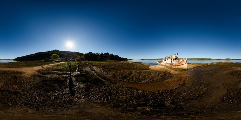 Point Reyes shipwreck in Inverness - click the image for an interactive view