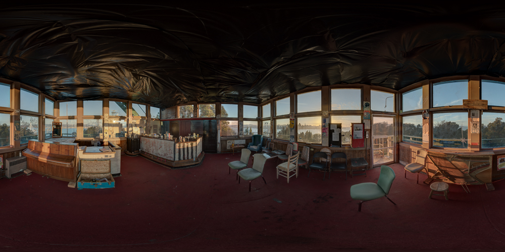A  360 panorama of The Signal Room  on San Francisco's Yerba Buena Island