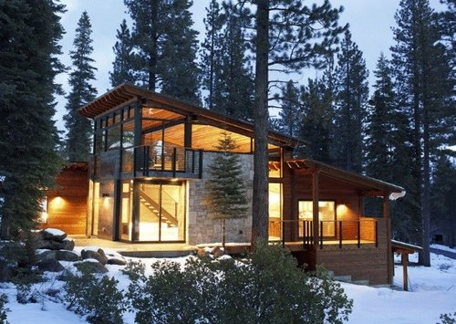 Modern Cabin Big Windows