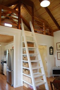 tiny cabin storage ladder.jpg