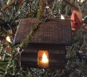 Christmas cabin village tree ornament.jpg