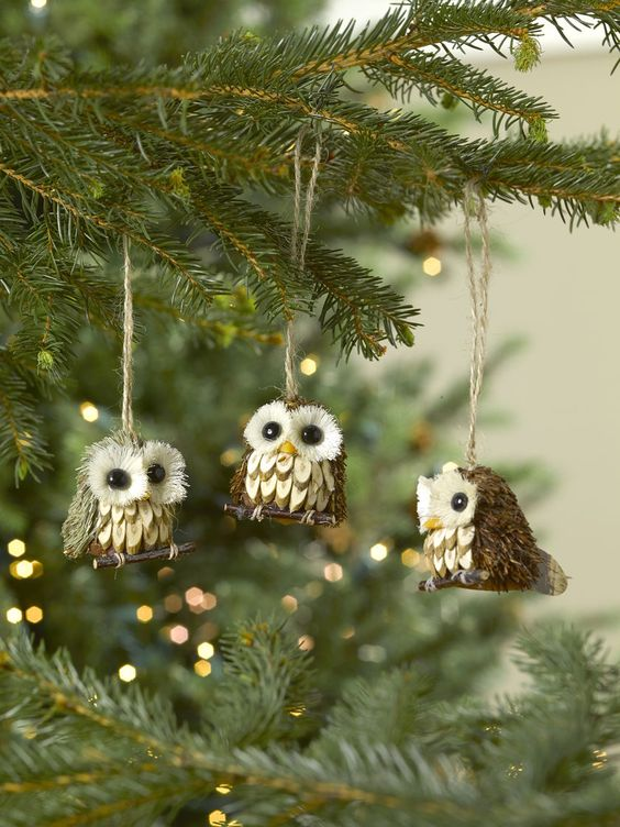 Christmas cabin woodland animals ornaments.jpg