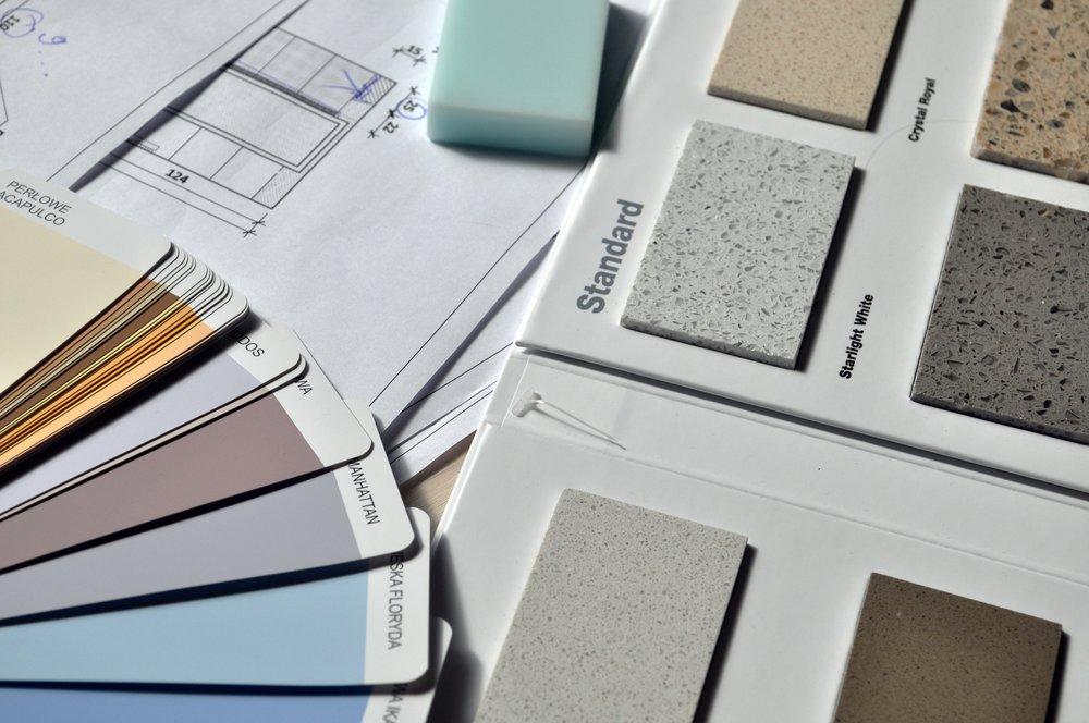 Designer color palette, flooring
